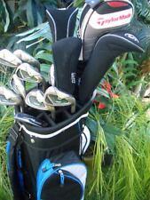Polished Golf Club Set TaylorMade Driver Wood Iron Putter Bag New Titleist Balls
