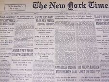 1930 MARCH 18 NEW YORK TIMES - CAPONE SLIPS AWAY FROM NEW PRISON - NT 1674