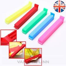 *UK Seller* Pack of 10 Food bag Storage Clips Freezer Sealing MIXED COLOURS