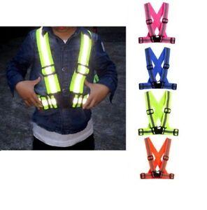 Hi Viz Vest High Vis Safety Visibility Waistcoat Jacket Reflective Belt Kids