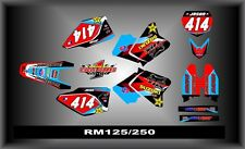 Suzuki RM 125-250 01-12  SEMI CUSTOM GRAPHICS KIT MILI