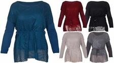 Mesh Long Sleeve Machine Washable Tops & Blouses for Women