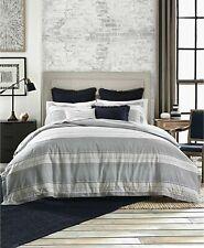 Tommy Hilfiger Laur 00004000 El Dobby Twin Comforter Set Navy Blue Beige 2 Pc New