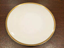 """HUTSCHENREUTHER Large Round 13"""" WHITE PORCELAIN PLATTER CHARGER PLATE Gold Trim"""