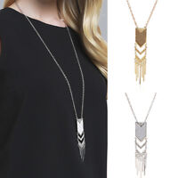 1Pcs Jewelry Accessories Long Chain Sweater Chain Necklace Tassel Pendant