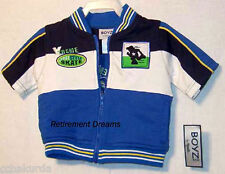 Short Sleeve Skate Jacket NWT 12M Toddler Boys Blue White BOYZ Wear by NANNETTE
