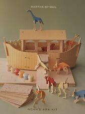 Vintage Martha By Mail Rare Noah'S Ark Craft Kit 2001 Wood Stewart