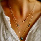 Lady Chic Design Boho Hamsa Fatima Hand Evil Eye Bead Turquoise Pendant Necklace