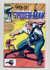 Web Of Spiderman #9  VF+ 1985  Marvel Comic Book