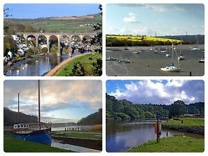 Tamar Valley Photographic Collage A2 Photo Canvas 16 x 22 inches (UK)