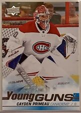 2019-20 Upper Deck Cayden Primeau Young Guns RC!! Montreal Canadiens