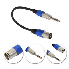 "3Pin XLR Male to 1/4"" 6.35mm Female Plug Stereo Microphone Adapter Cable Cord"