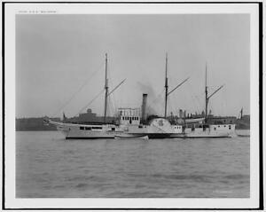 USS Wolverine,American battleships,naval warfare,vessels,boat,water bodies,c1898