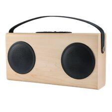Wooden Bluetooth Speaker FM Radio & MP3 Player 4000mah Portable Wireless USB HOT