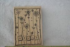 """Hero Art Rubber Stamp by   """"Hello"""" New  Mounted"""