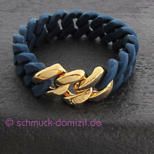 theRubz - the Rubz Silikon Classic Armband 20 mm - Blau / Gelbgold - 100052