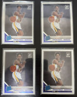 2019-20 Optic Rated Rookie Jordan Poole #169 Golden State Warriors Lot of 4