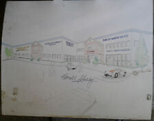 Shelby American 6755 Speedway. Architecture Drawings - Signed by Carroll Shelby!
