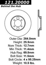 Centric Parts 121.20000 Rear Disc Brake Rotor