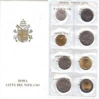 VATICANO VATICAN 1975 - 1987. CARTERA SET LIRAS - UNC