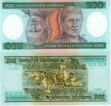BRESIL billet neuf de 200 CRUZEIROS tete beche Pick199b Princesse Isabel 1984