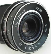 INDUSTAR-69 2.8/28 Russian Soviet USSR Wide Angle Pancake Lens M39 MMZ-LOMO #62