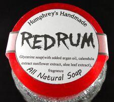REDRUM Bay Rum Soap Red Glycerin Unisex Men's Shaving Bar, Argan Oil Beard Wash