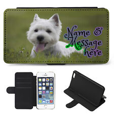 Personalised iPhone Case WESTIE DOG Cover Flip Wallet Phone Puppy ST343