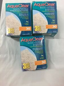 AquaClear 30 Ammonia Remover Filter Insert, 3 Per Pack 4.3 oz Each 3 Pack Boxes