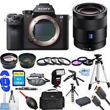 Sony Alpha a7R II Mirrorless Digital Camera W/ Sonnar T* FE 55mm ZA MEGA KIT NEW