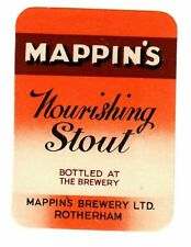 More details for beer label: mappin's brewery, rotherham, nourishing stout 76mm tall