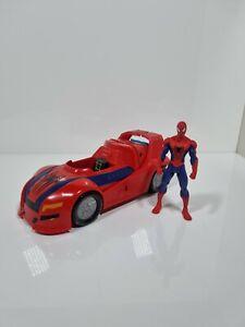 Marvel 2014 Spiderman Launching Car Vehicle Hasbro Uesd