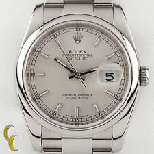 Rolex ♛ Stainless Steel Oyster Perpetual Datejust 116200 Men's Automatic Watch