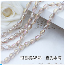 wholese 20/30/50pcs AB Teardrop Shape Tear Drop Glass Faceted Loose Crystal Bead