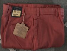 NWT-Bills Khakis Red M2-WRPB Plain Front POPLIN SZ 37X30 MSRP $165