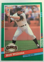 Rare ERROR card Matt Williams 1991 Donruss #685 NM career highlights text stops