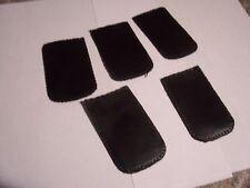5 BRAND NEW BLACK LEATHER ST DUPONT COLIBRI ZIPPO LIGHTER POUCHES