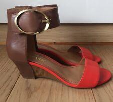 Brand New, Blush Orange And Tan Sandals, Nine West, Size 4