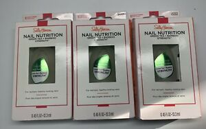 Sally Hansen Hansen Hansen Nail Nutrition Nail Strengthener-0.45 oz 3 Pack