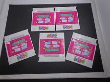 *    KISS DONRUSS WAX GUM PACK WRAPPERS-5+5 ROCKSTARS WRAPPERS-Queen-the Babys