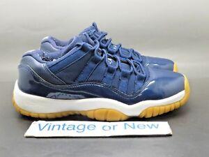Nike Air Jordan XI 11 Low Navy Gum Retro BG 2016 sz 4Y