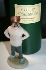 Boxer Dog Jogger Robert Harrop Country Companions Signed and Boxed