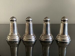 Sterling Silver Set of 4 Salt and Pepper Shakers 44 Grams