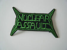 NUCLEAR ASSAULT PATCH Embroidered Iron On Sew On Heavy Thrash Metal Badge NEW