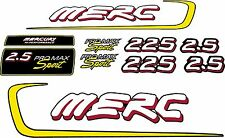 Mercury Racing 2.5L Alien Promax Sport 225-280hp Decal Kit