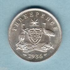 New listing Australia . 1936 Threepence. Full Lustre - aU/Unc