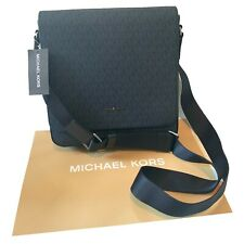 Men's Michael Kors Medium Navy Blue Man Bag MK Print