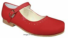 Girls Spanish Patent Leather Mary Jane Strap Flat Shoes UK Size 4(EU20)-2(EU34)