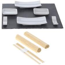 Set 3 Stück Tapasbrett mit Griff 40x10x1,4 cm Servierplatte Sushibrett Vorspeise