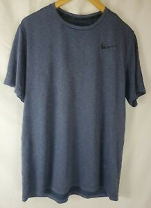 Nike Men's Large Short Sleeve Dri-Fit Blue Shirt
